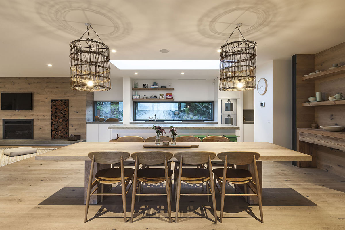 Dining Table, Lighting, Foam Road Fingal Residence by Jam Architecture
