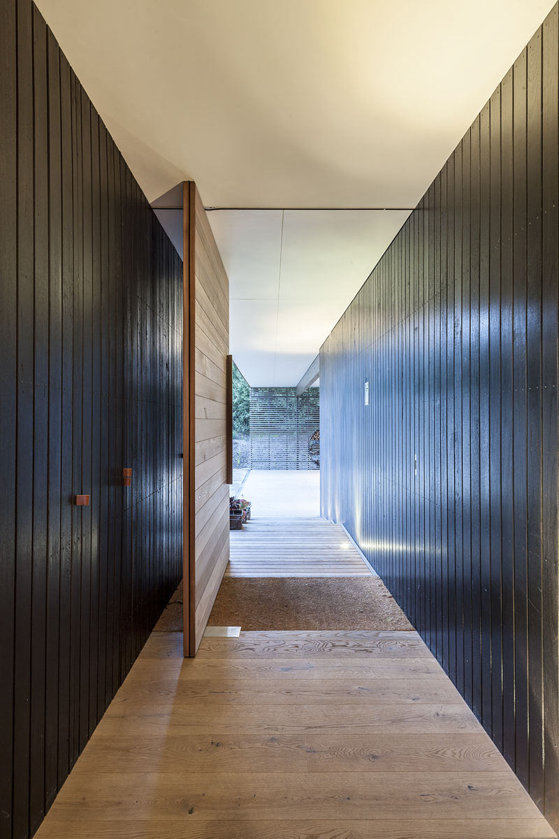 Wooden Front Door, Foam Road Fingal Residence by Jam Architecture
