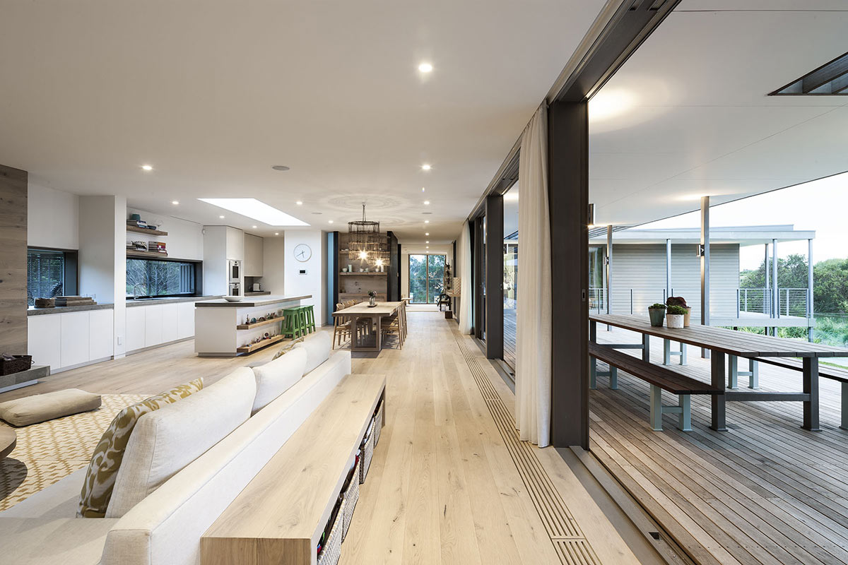 Kitchen, Dining & Living Space, Foam Road Fingal Residence by Jam Architecture