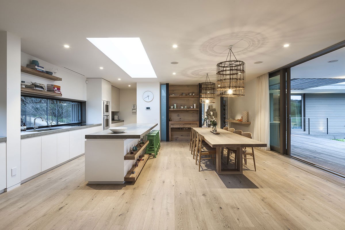 Kitchen, Living Space, Patio Doors, Foam Road Fingal Residence by Jam Architecture