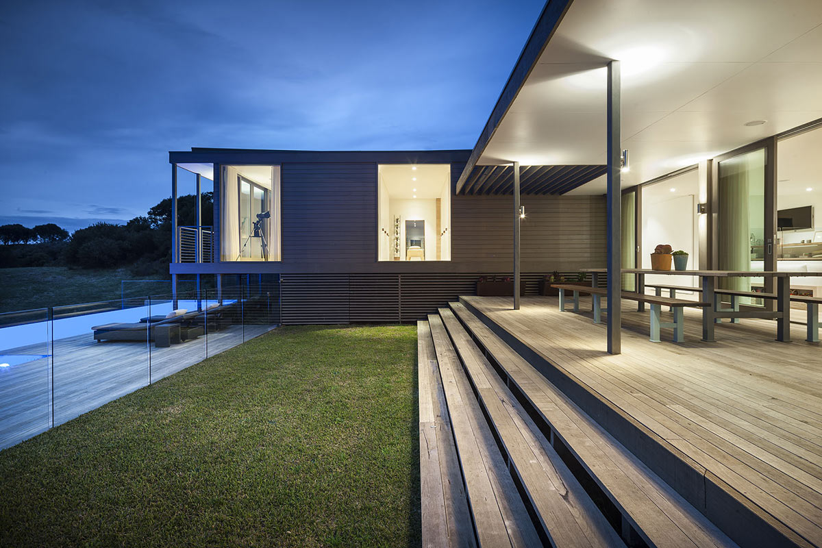 Terrace, Glass Fence, Foam Road Fingal Residence by Jam Architecture