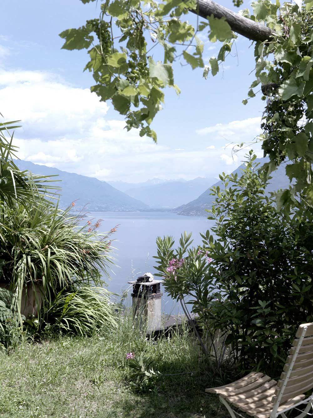 Garden Views, Modern Home Overlooking Lake Maggiore, Switzerland