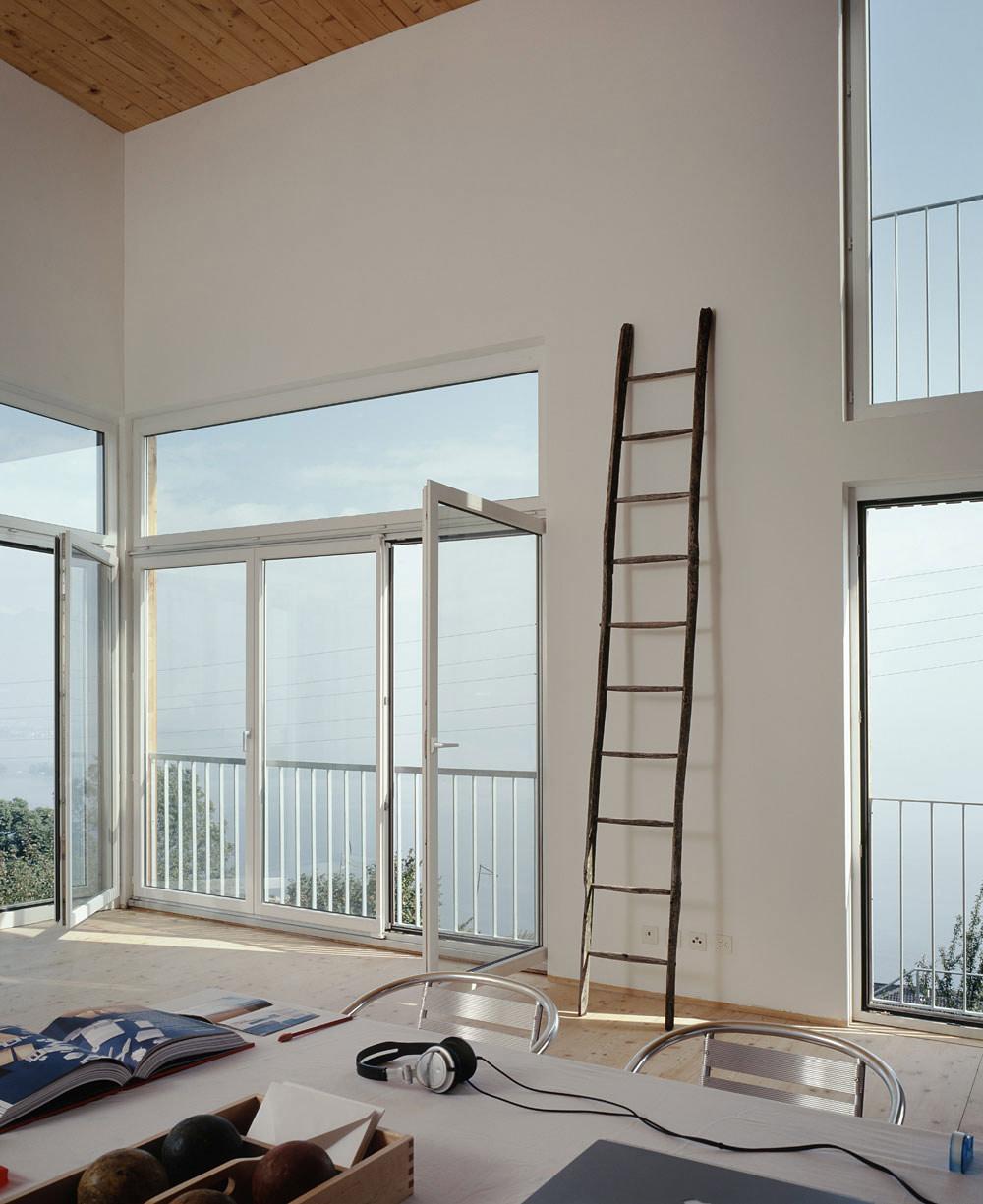 Patio Doors, Studio, Modern Home Overlooking Lake Maggiore, Switzerland