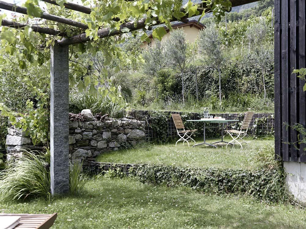 Pergola, Grape Vine, Garden, Modern Home Overlooking Lake Maggiore, Switzerland