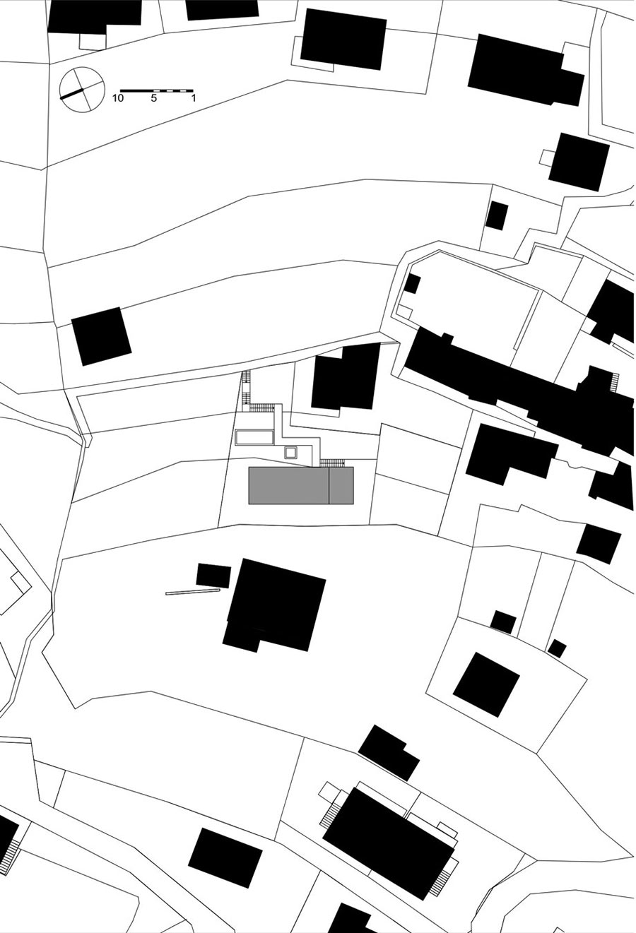 Site Plan, Modern Home Overlooking Lake Maggiore, Switzerland