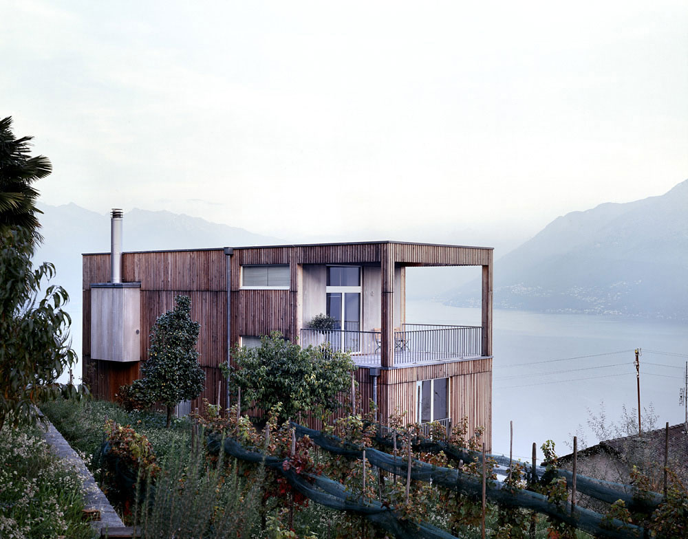 Views modern home overlooking lake maggiore switzerland