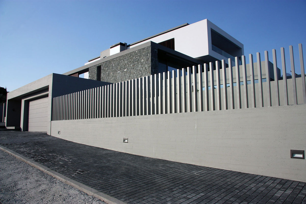 Garage, Hilltop Home in Thessaloniki, Greece by Office 25 Architects