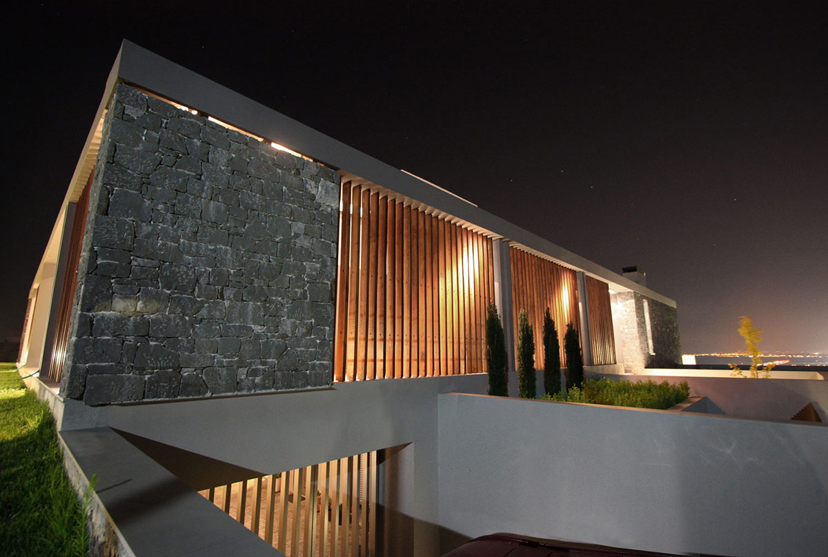 Lighting, Hilltop Home in Thessaloniki, Greece by Office 25 Architects