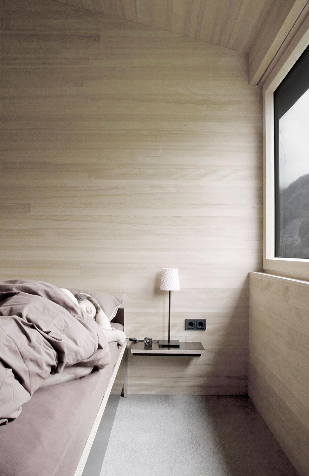 Bedroom, House for Gudrun in Mellau, Austria