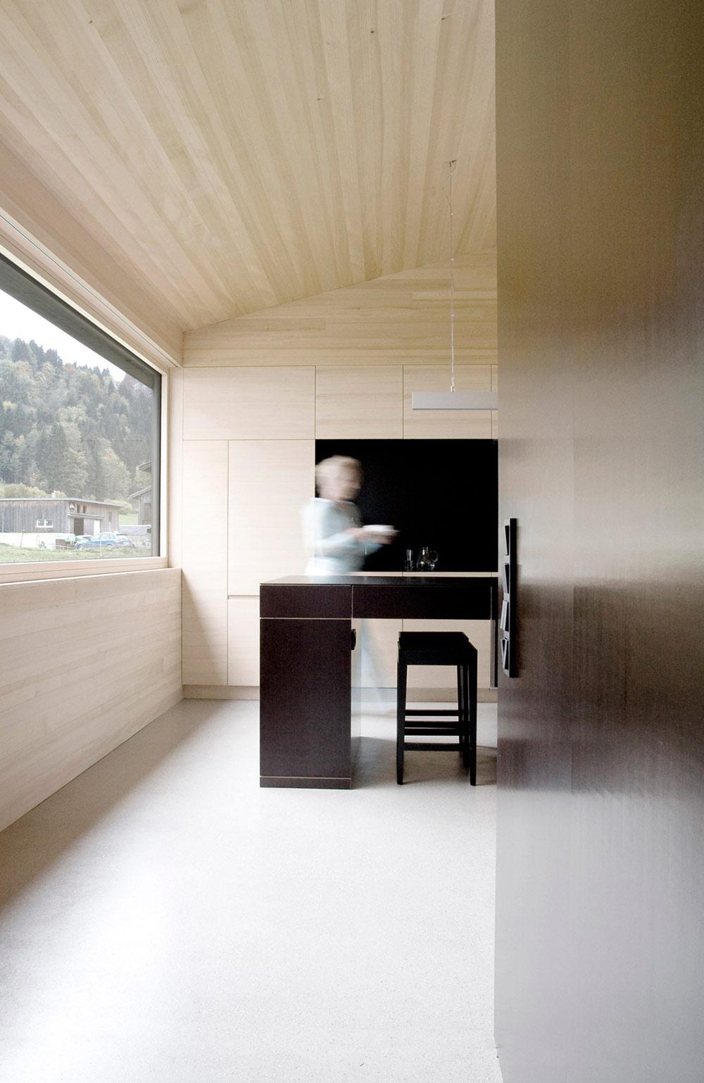 Kitchen, House for Gudrun in Mellau, Austria