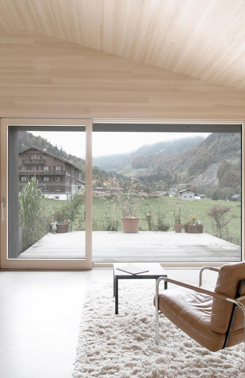 Living Space, Terrace, Views, House for Gudrun in Mellau, Austria