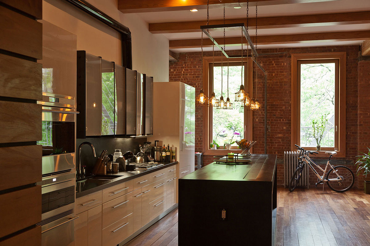 Kitchen, Cream Cupboards, Loft in NOHO, New York City