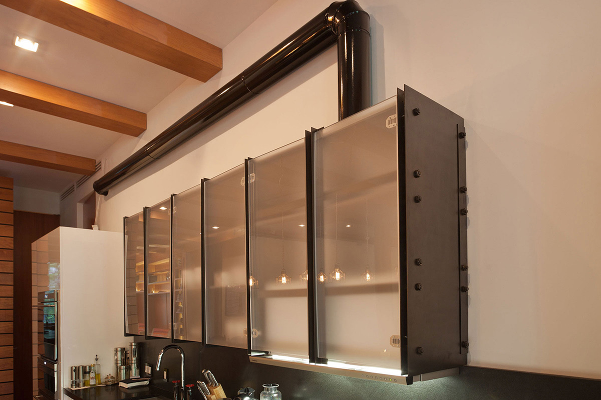 Metal & Glass Cupboards, Loft in NOHO, New York City