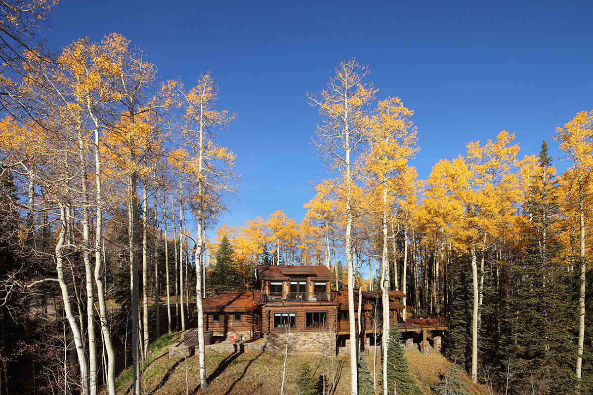 Modern Log Cabin in Telluride Colorado