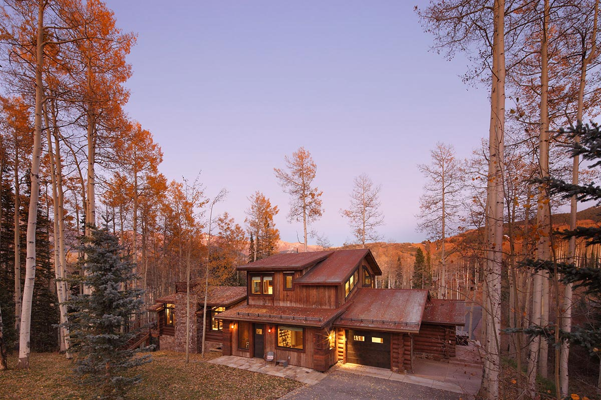 Garage, Modern Log Cabin in Telluride Colorado
