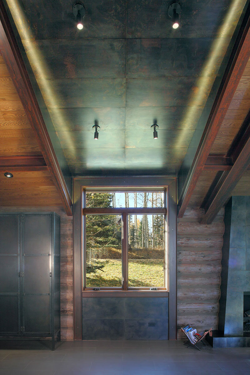 Living Space, Modern Log Cabin in Telluride Colorado