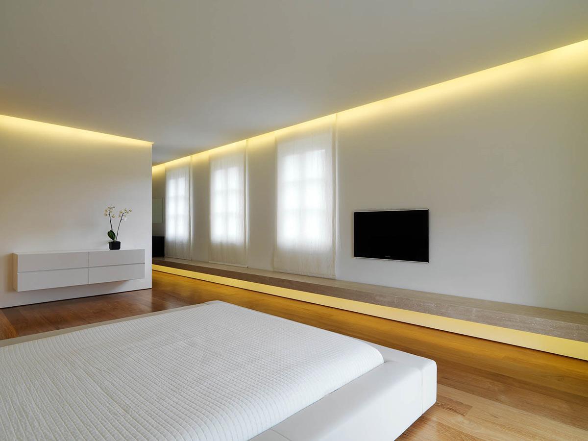 Bedroom, Minimalist Interior in Tuscany, Italy by Victor Vasilev