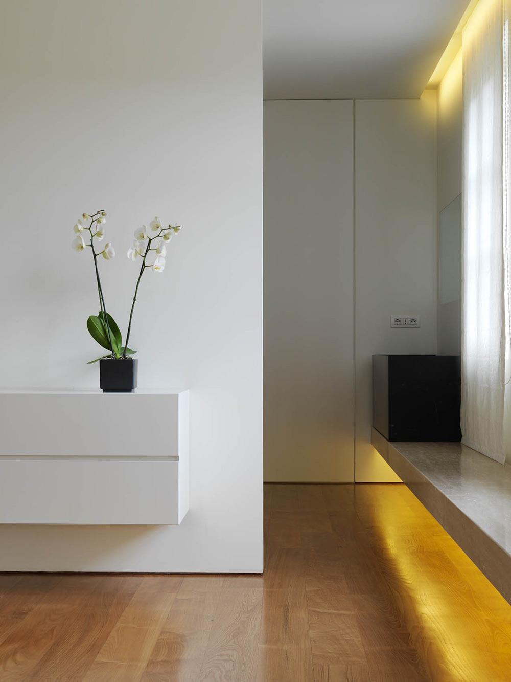 Bedroom, Lighting, Minimalist Interior in Tuscany, Italy by Victor Vasilev