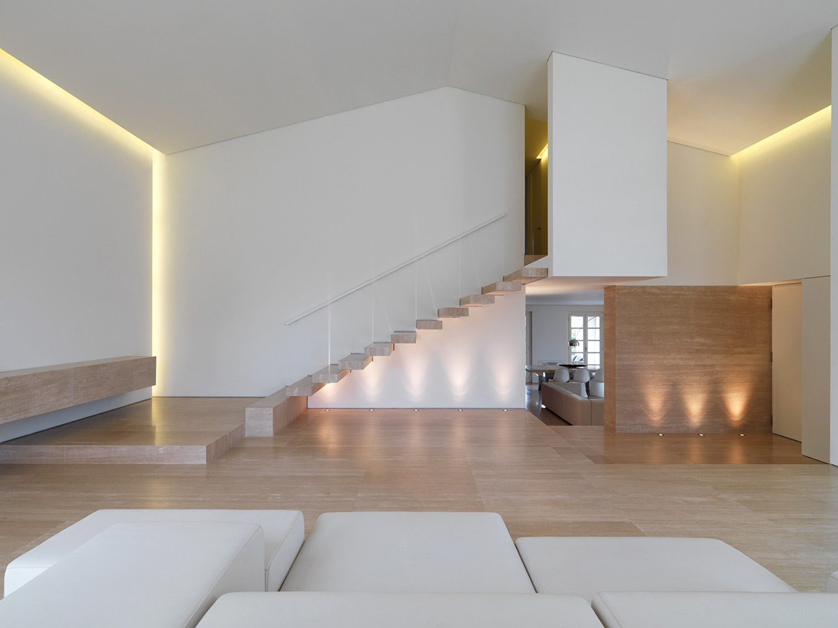 Stairs, Minimalist Interior in Tuscany, Italy by Victor Vasilev