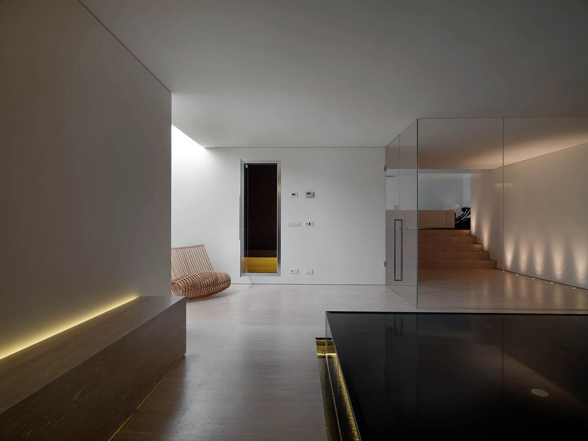 Jacuzzi, Sana, Lighting, Minimalist Interior in Tuscany, Italy by Victor Vasilev