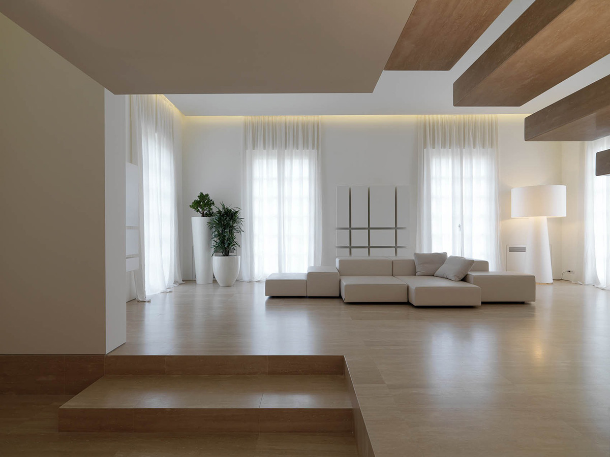 Living Space, Minimalist Interior in Tuscany, Italy by Victor Vasilev