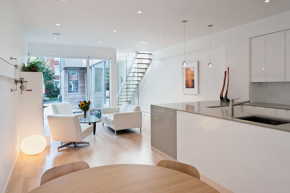 Dining, Kitchen & Living Space, Hintonburg Home in Ottawa, Canada