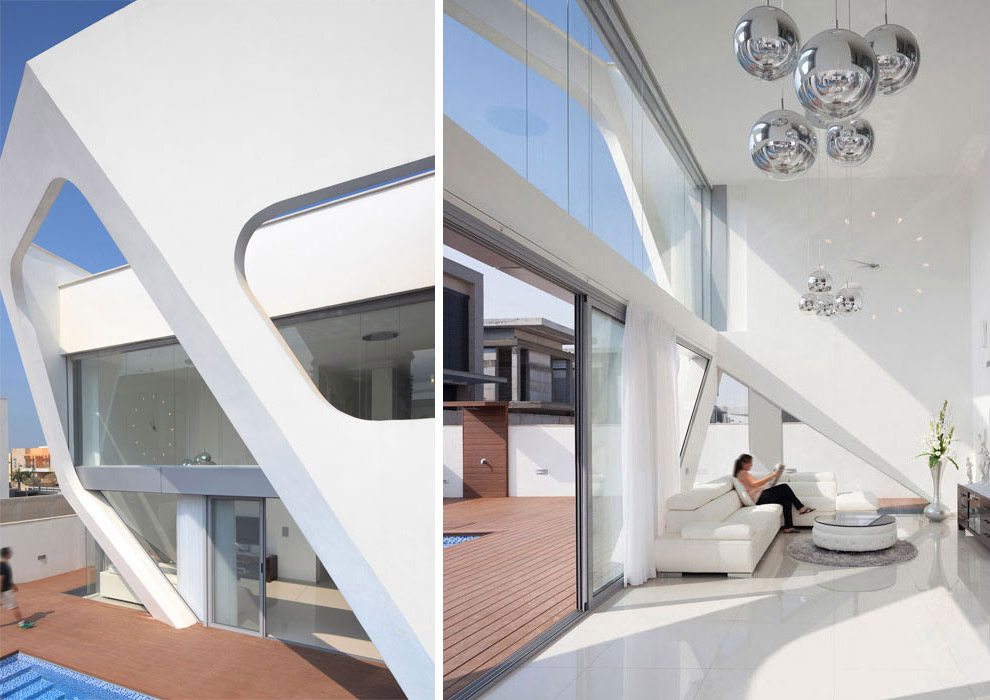 Terrace, Living Space, Intriguing Contemporary Villa in Ashdod, Israel