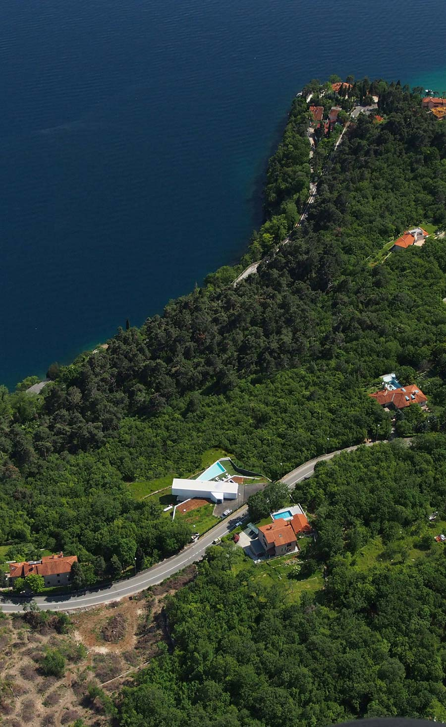 Aerial View, Nest & Cave House in Opatija, Croatia