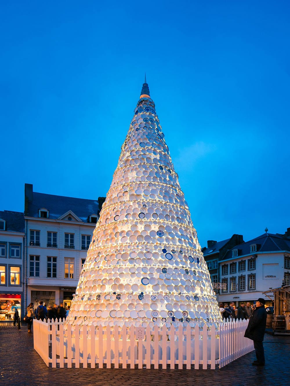 Porcelain Christmas Tree in Hasselt, Belgium by Mooz