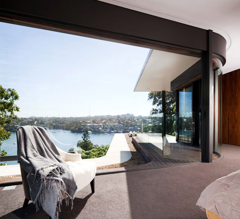 Bedroom Views, River House in Sydney, Australia