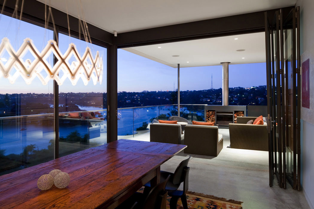 Dining Table, Views, River House in Sydney, Australia