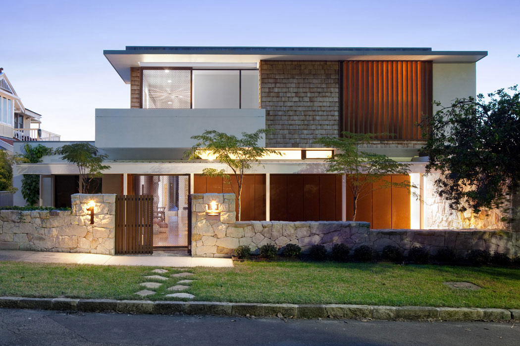 Lane cove river house in sydney australia for House arch design photos