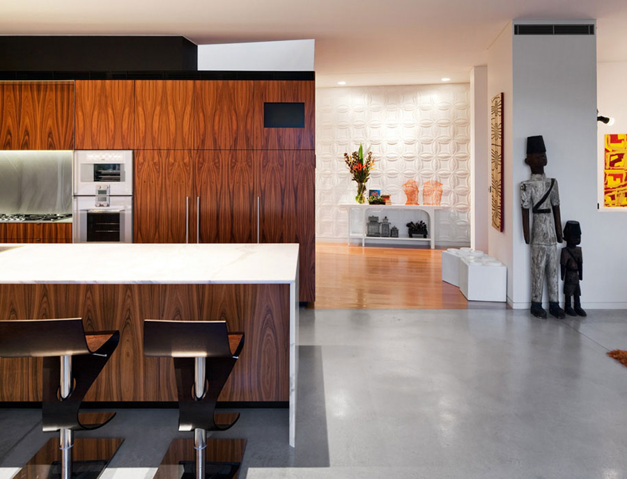 Kitchen Island, Breakfast Table, River House in Sydney, Australia