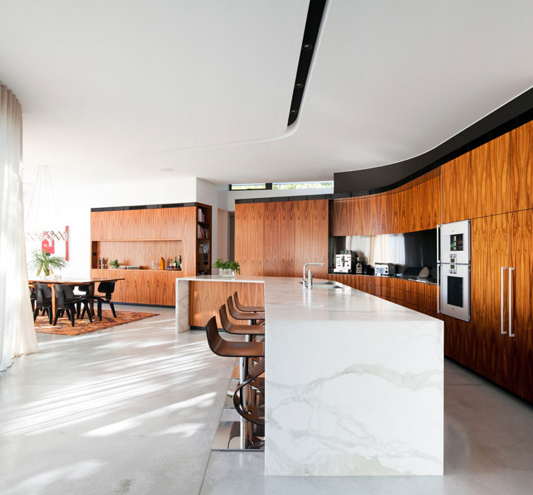 Kitchen Island, River House in Sydney, Australia