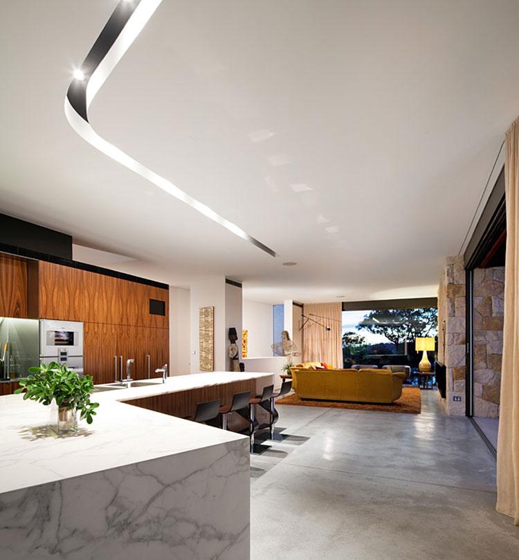Open Plan Living, River House in Sydney, Australia