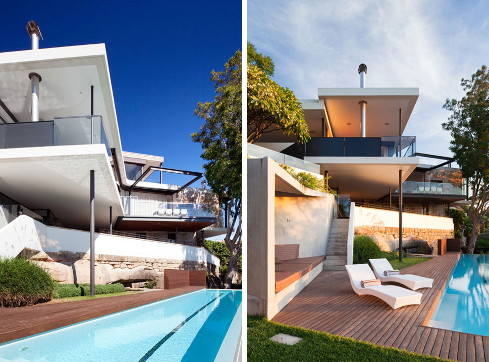 Pool, Terrace, River House in Sydney, Australia