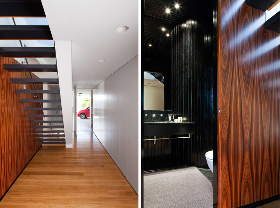 Stairs, Bathroom, River House in Sydney, Australia