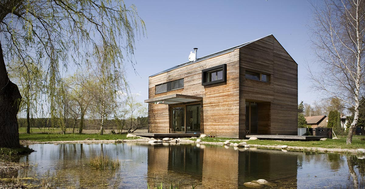 Pond, Wood Cladding, Charming Rustic Family home in the Czech Republic