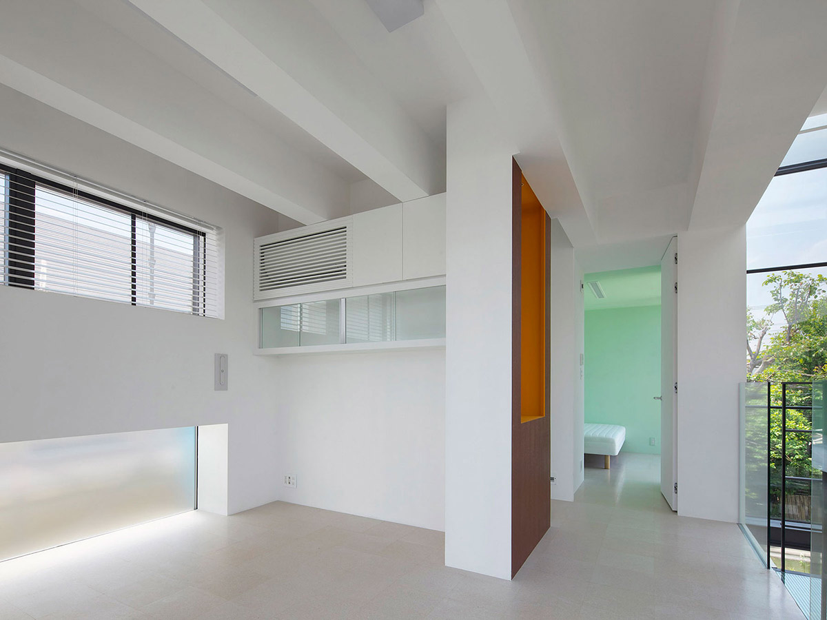 Hall, Bright Contemporary Home in Tokyo, Japan