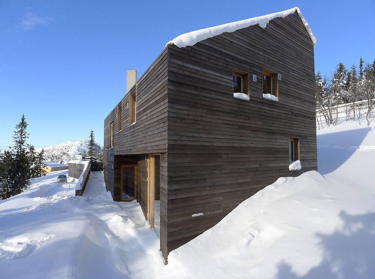 Snow, Ski Home in Kvitfjell, Norway: Twisted Cabin