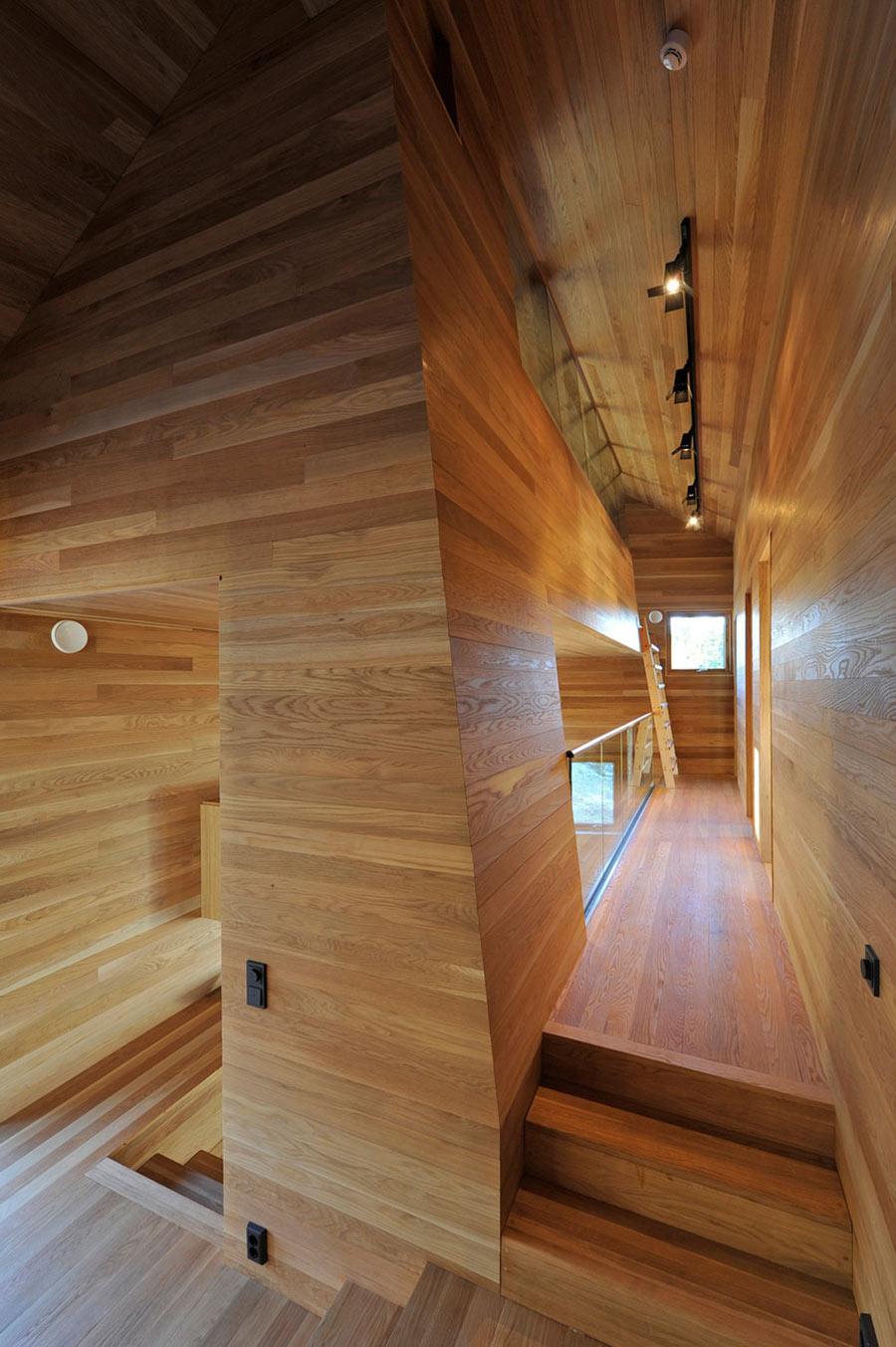 Stairs, Hallway, Ski Home in Kvitfjell, Norway: Twisted Cabin