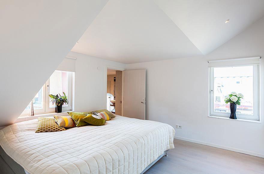 Bedroom, Stylish Modern Apartment Stockholm