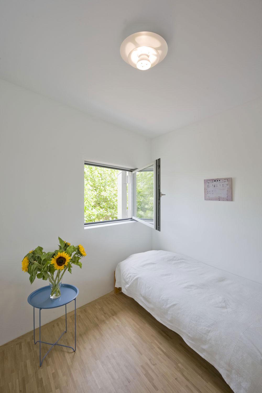Bedroom, Stripe House Leiden, The Netherlands