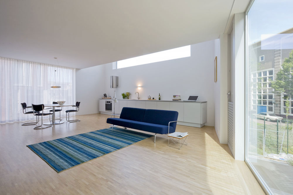 Kitchen, Living Space, Stripe House Leiden, The Netherlands