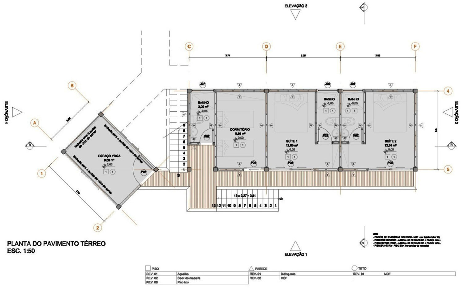 Floor Plan, Outstanding Sustainable Home in Praia do Felix, Brazil