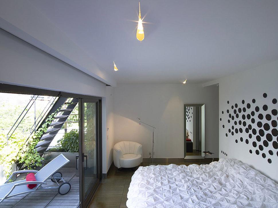 Bedroom, Patio Doors, Townhouse Renovation in Gramercy Park, New York
