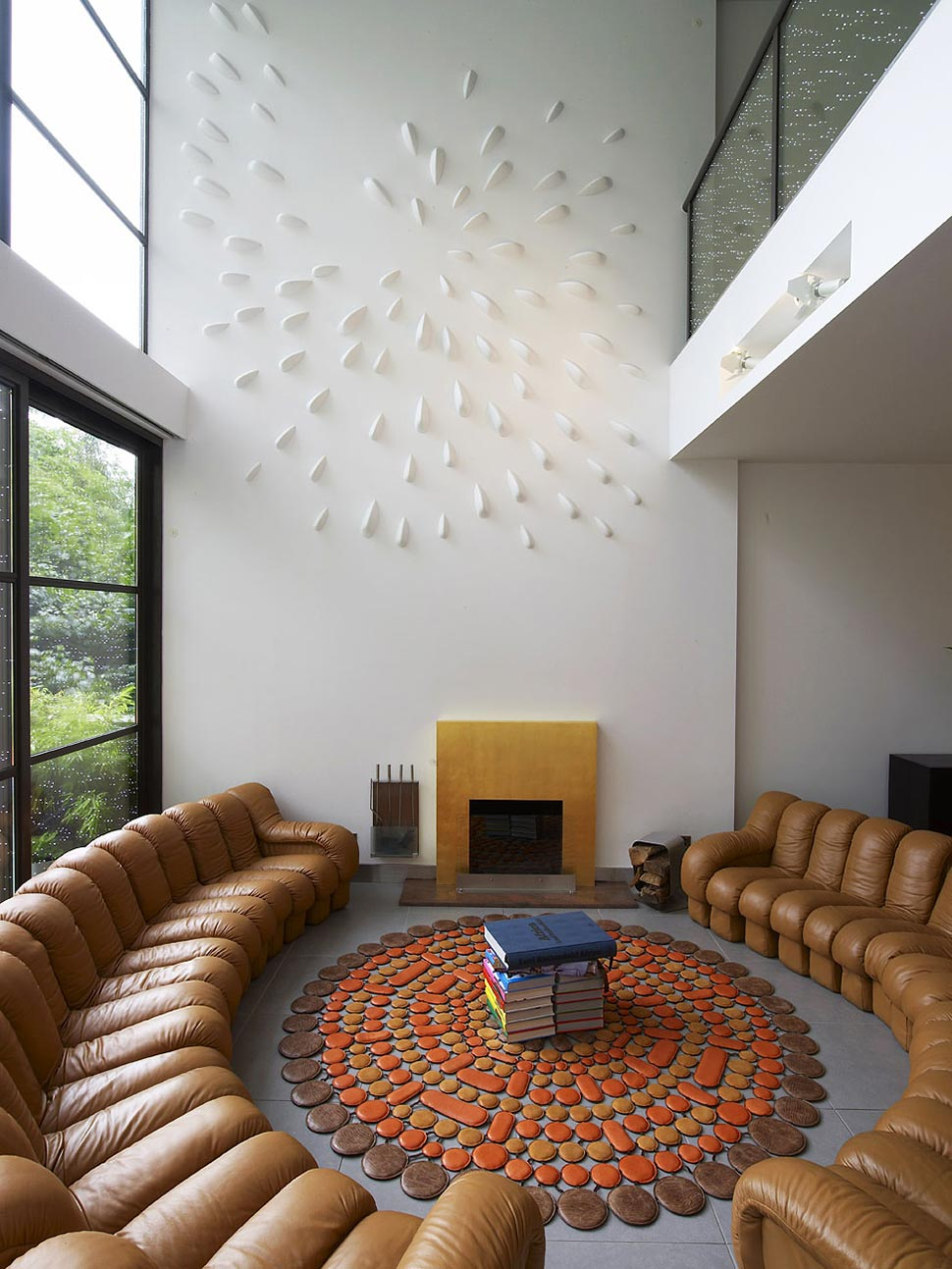 Fireplace, Living Space, Townhouse Renovation in Gramercy Park, New York