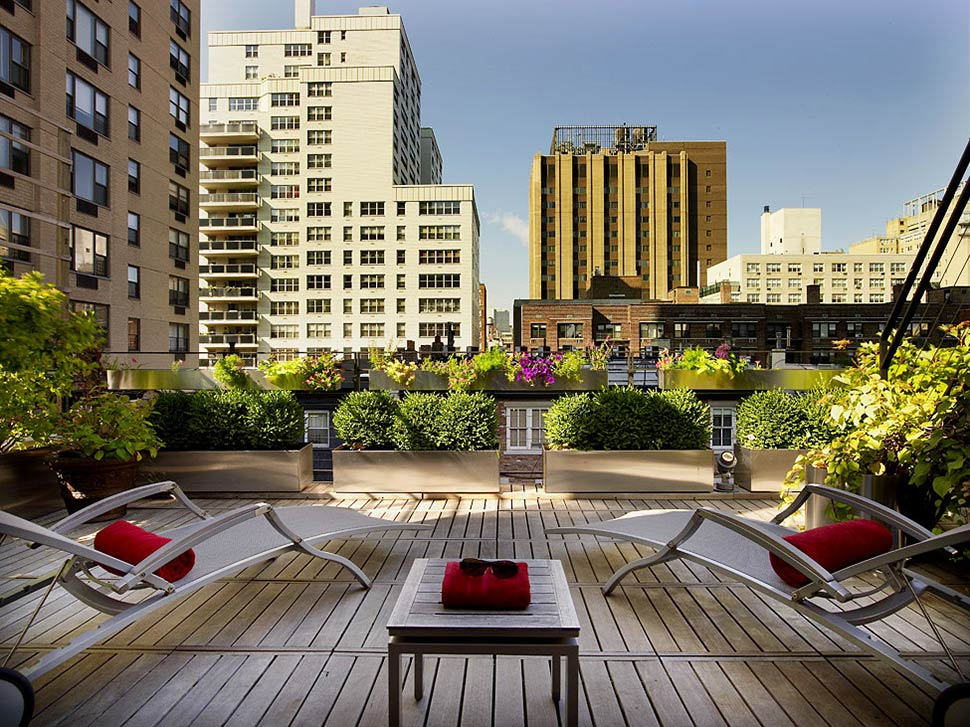 Roof Terrace, Townhouse Renovation in Gramercy Park, New York