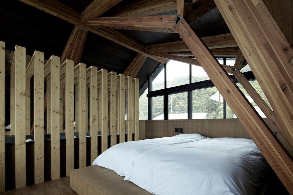 Bedroom, Villa SSK Overlooking Tokyo Bay in Chiba, Japan