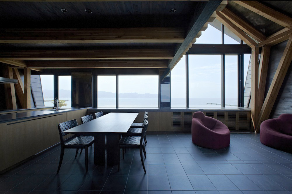 Kitchen, Dining Space, Views, Villa SSK Overlooking Tokyo Bay in Chiba, Japan